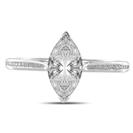 Two Prong Marquise/Round Shoulder Set Ring