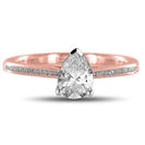 Image for Pear Diamond Shoulder Set Ring