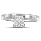 1.50CT SI2/I Princess Diamond Shoulder Set Ring