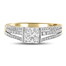 Image for Princess Diamond Vintage Ring