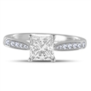 Princess Diamond Shoulder Set Ring
