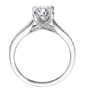 GIA CERTIFIED 0.40CT VVS2/E Round Diamond Shoulder Set Ring