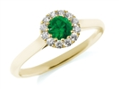 Image for Emerald & Diamond Cluster Ring