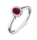 Image for Oval Ruby & Diamond Ring