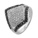Image for Black & White Diamond Designer Ring