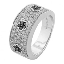 Image for Classic Black & White Diamond Designer Ring