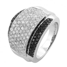 Image for Black & White Diamond Designer Mens Ring