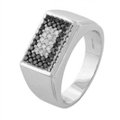 Image for Mens Black & White Diamond Designer Ring