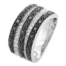 Image for Stripy Black and White Diamond Ring