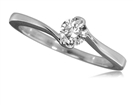 Image for Twist Round Diamond Solitaire Ring