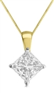 Image for Lucida Princess Diamond Solitaire Pendant