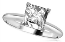 Image for Knife Edge Shoulder Princess Diamond Engagement Ring