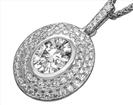 Image for Oval Diamond Double Halo Pendant