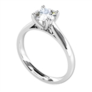 1.05CT SI1/J Round Diamond Solitaire Ring
