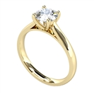 GIA CERTIFIED 0.90ct VS2/E Round Diamond Solitaire Ring