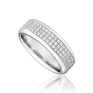 Image for Full Set 5.5mm Triple Row Gents Ring
