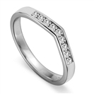 Image for 2.5mm Round Diamond Shaped Wedding Ring