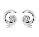 Image for Fire Set Round Diamond Designer Earrings