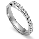3mm Round Diamond Shaped Wedding Ring