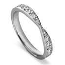 2.5mm Round Diamond Shaped Wedding Ring