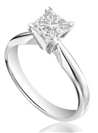 Image for CERTIFIED 1.75CT SI2/H Princess Diamond Ring