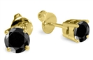 Image for Round Black Diamond Earrings