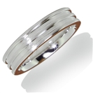 4.5mm Flat Court Groove Wedding Ring