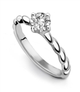 Image for 0.40ct G/VS2 Round Diamond Solitaire Ring
