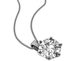 Traditional Round Diamond Solitaire Necklace