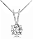Image for Classic Round Diamond Solitiare Necklace