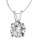 Image for Traditional Round Diamond Solitaire Necklace