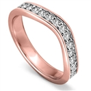 Image for Round Diamond set Shaped Wedding Ring