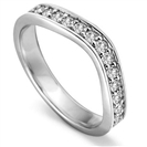 3.5mm Round Diamond set Shaped Wedding Ring