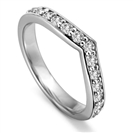 Image for 2mm Round Diamond set Shaped Wedding Ring