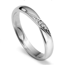 Image for 2.5mm Round Diamond set Shaped Wedding Ring
