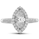 Marquise Diamond Single Halo Shoulder Set Ring