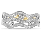 Image for Multi Row Wave Round Diamond Dress Ring