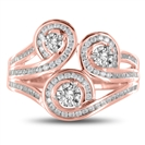 Image for Multi Row Loop Round Diamond Dress Ring