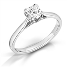 Petal Crossover Round Diamond Engagement Ring