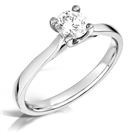 Modern Crossover Round Diamond Engagement Ring