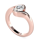 Image for Semi Rubover Oval Diamond Engagement Ring