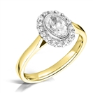 Image for Modern Oval Diamond Single Halo Ring