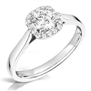 Classic Round Diamond Single Halo Ring