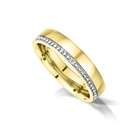 Image for 5mm Vintage Round Diamond Wedding Ring