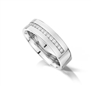 Image for Half Set 6mm Round Diamond Wedding Ring