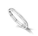 Petite 2mm Round Diamond Wedding Ring