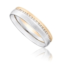 Image for Brushed Finish 4mm Round Diamond Wedding Ring