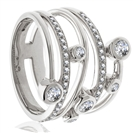 0.40CT Elegant Swirl Round Diamond Dress Ring