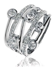 Image for Elegant Swirl Round Diamond Dress Ring