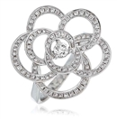 Image for Round Diamond Cluster Flower Dress Ring